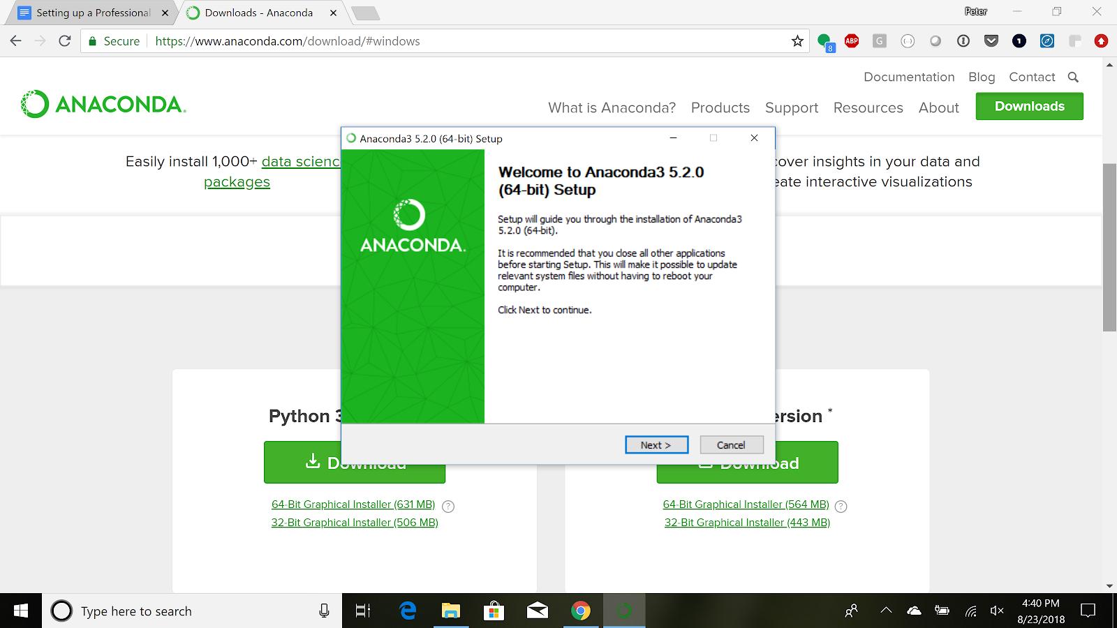 Ent Ds Del 0 1 Installing Anaconda - Learn co