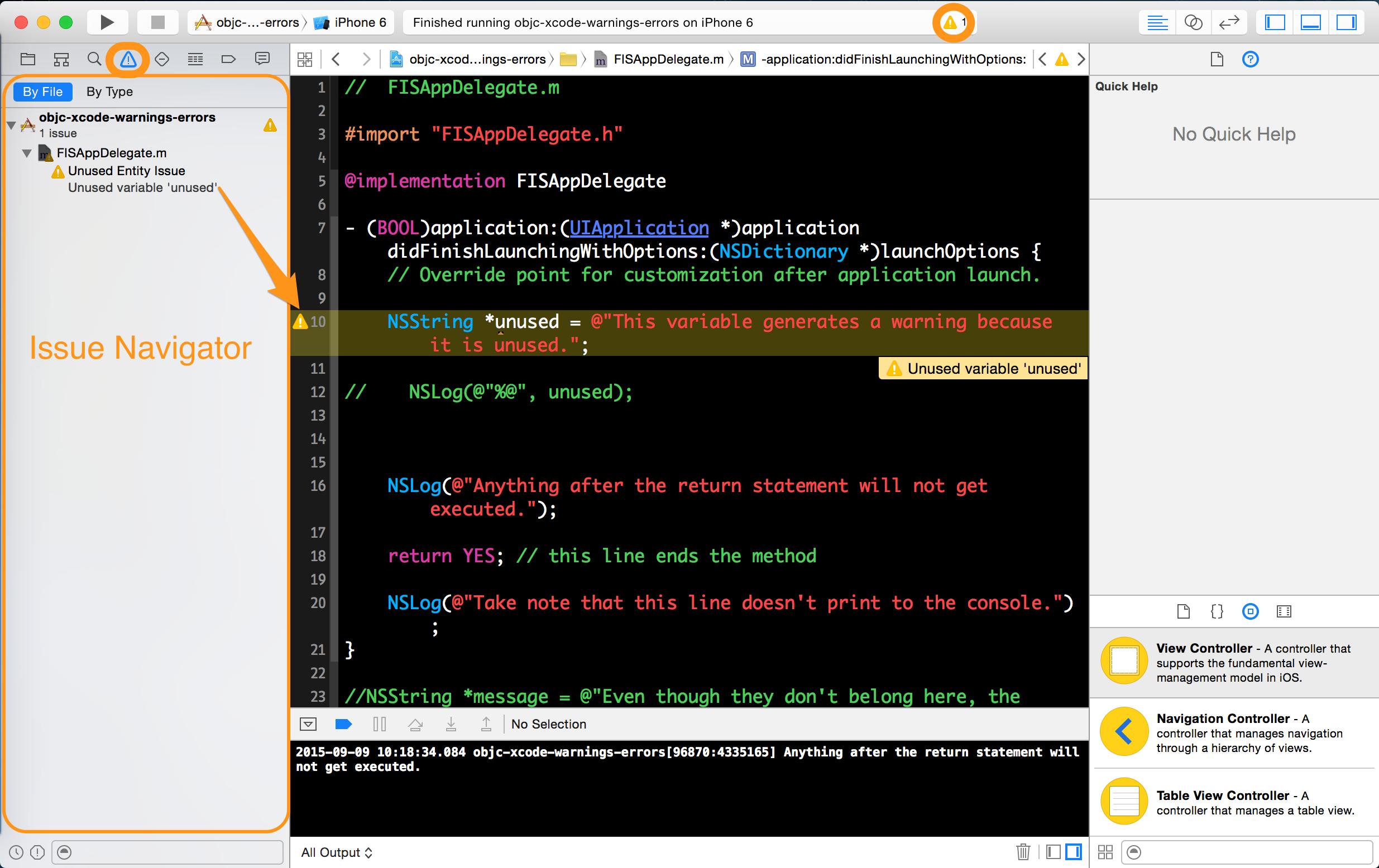 Objc Xcode Warnings Errors - Learn co