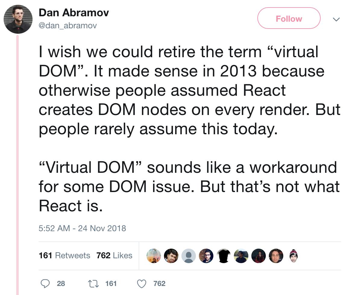 Dan Abramov No Longer Likes Virtual DOM