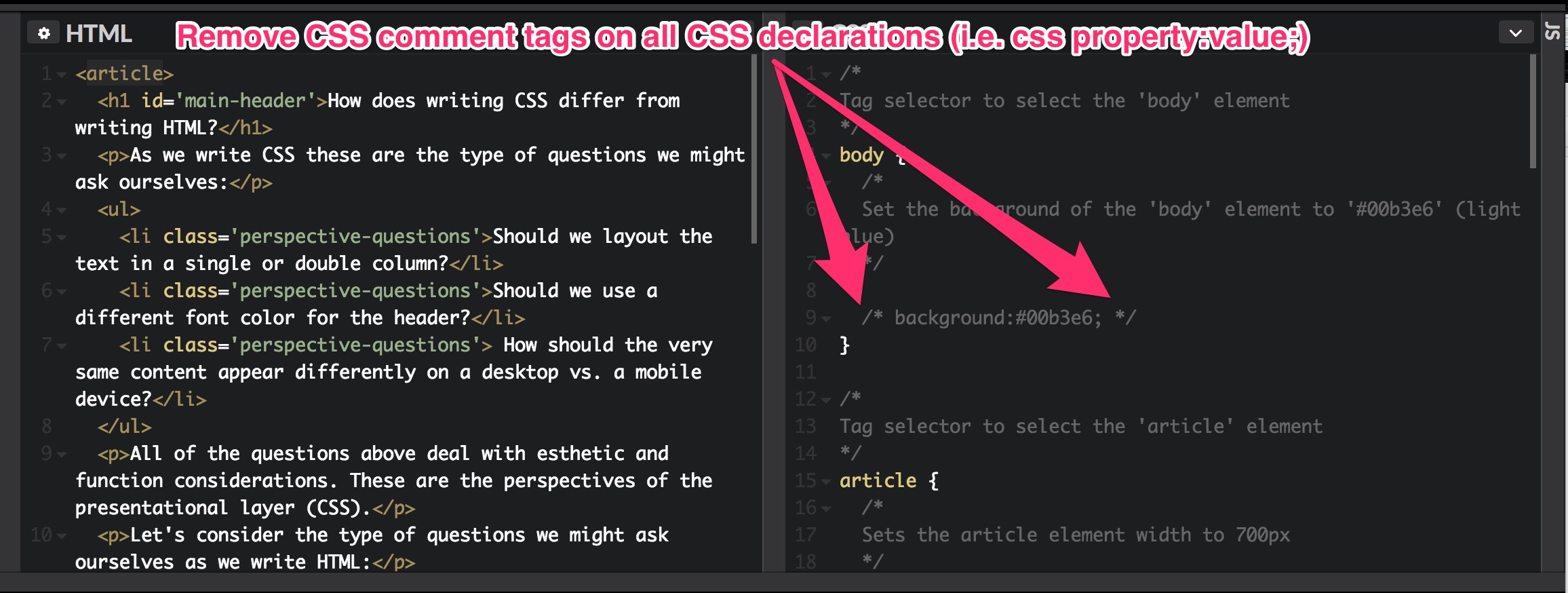 Introduction To Css Code Along